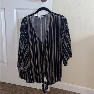 Maurices size O (XL/XXL) striped button shirt